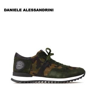 ダニエレアレッサンドリーニ DANIELE ALESSANDRINI 3万8880 スニーカー シューズ 靴 スウェード メンズ 迷彩 ロゴ インポート 春 カモフラ 43 あすつく|museum8
