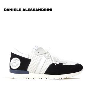 ダニエレアレッサンドリーニ DANIELE ALESSANDRINI 3万8880 スニーカー シューズ 靴 スウェード メンズ メッシュ インポート 春 ホワイト×ブラック 42 あすつく|museum8