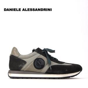 ダニエレアレッサンドリーニ DANIELE ALESSANDRINI 4万2120 スニーカー シューズ 靴 スウェード メンズ ダメージ調 ロゴ インポート 春 グレー系 43 あすつく|museum8