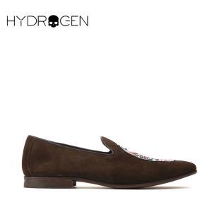ハイドロゲン HYDROGEN 8万9640 スリッポン シューズ スニーカー 靴 メンズ スカル スウェードレザー インポート 春 ブラウン 41 あすつく|museum8