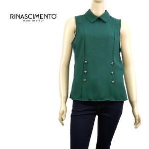 ブラウス シャツ 1万7280 リナシメント RINASCIMENTO レディース 衿つき ノースリーブ トップス モスグリーン S あすつく museum8