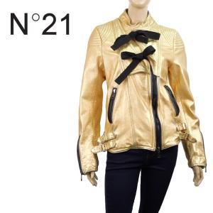 レザージャケット レディース ライダース ヌメロヴェントゥーノ N°21 ビンテージ風 ダメージ ゴールド 40 34万5600 あすつく|museum8