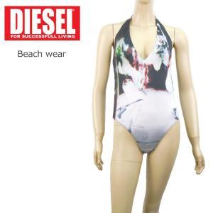 ディーゼル DIESEL ビーチウエア 水着 1万5984 ワンピース 柄 スイムウエア レディースインポート グレー系 XS S M|museum8