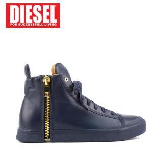 ディーゼル DIESEL スニーカー ハイカット ジップディティール S-NENTISH メンズ Y01172 P1159 ブランド ネイビー 41 42 あすつく|museum8