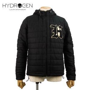 HYDROGEN ハイドロゲン 中綿ブルゾン ダウンジャケット 9万5040 メンズ フードウール アウター ブランド 秋冬 ブラック 48 あすつく museum8