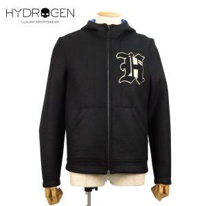 HYDROGEN ハイドロゲン ジップアップジャケット 7万9920 メンズ フードアウター ブランド 秋冬 ブラック 46 あすつく museum8