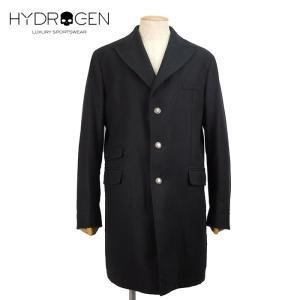 HYDROGEN ハイドロゲン ロングコート 大きいサイズ ロングコート 15万1200 メンズ スカル ウール アウター ブランド 秋冬 ブラック 56 あすつく museum8