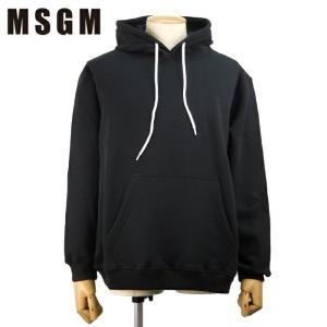 MSGM エムエスジーエム フードパーカー スウェットTシャツ 2540MM177 3万3480 メンズ ロゴトレーナー トップス 裏起毛 ブランド ブラック XS S M L あすつく|museum8