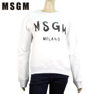 MSGM エムエスジーエム トレーナー スウェットTシャツ 2541MDM89 2万7000 レディース ロゴ トップス 裏起毛 ブランド ホワイト S M あすつく|museum8