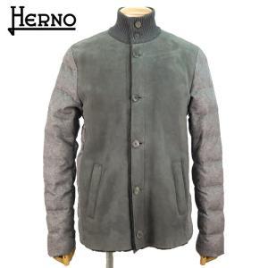 ヘルノ HERNO メンズ レザーブルゾン レザージャケット 36万7200 PL0050U18033 アウター ブランド 秋冬 9460/グレー 50 あすつく|museum8