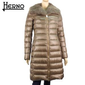 ヘルノ HERNO レディース ダウン ダウンコート ダウンジャケット フードつき 22万1400 軽量 アウター ブランド 秋冬 2700/ライトブラウン 40 あすつく J|museum8