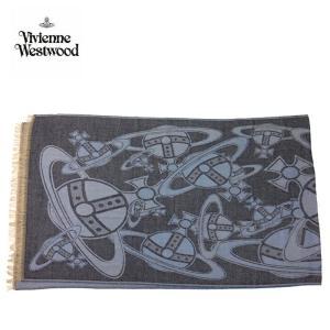 viviennewestwood ヴィヴィアンウエストウッド ストール 大判 スカーフ マフラー 3万6720 レディース メンズ ギフト ブランド ネイビー系 F あすつく|museum8