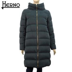 ヘルノ HERNO レディース ダウン ダウンコート ダウンジャケット 軽量 14万0400 スタンドカラー アウター ブランド 秋冬 9300/ブラック 42 あすつく|museum8