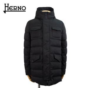 ヘルノ HERNO メンズ ダウン ダウンコート ダウンジャケット 11万6640 フードつき 9490/チャコールグレー 48 あすつく J|museum8