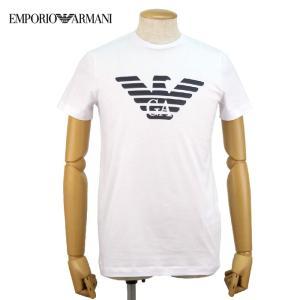エンポリオアルマーニ EMPORIOARMANI Tシャツ カットソー トップス メンズ イーグルロゴ 8N1T991JNQZ 半袖 コットン ブランド 春夏 ホワイト S M L あすつく|museum8