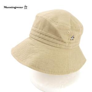 マンシングウエア レディース 帽子 ハット UV対策 UVカット キャペリン Munsingwear ツバ広 コットン 麻 ブランド 春夏 ベージュ 57 あすつく メール便|museum8