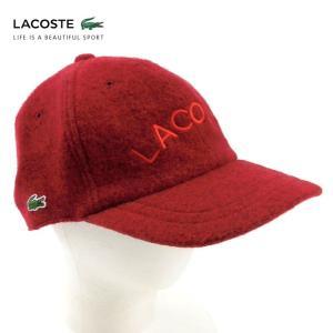 ラコステ メンズ 帽子 キャップ ハット ベースボールキャップレディース LACOSTE CAP 6912 ロゴ ウール ブランド 秋 冬 レッド 58 あすつく museum8