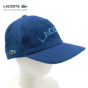 ラコステ メンズ 帽子 キャップ ハット ベースボールキャップレディース LACOSTE CAP 6912 ロゴ ウール ブランド 秋 冬 ブルー 58 あすつく museum8