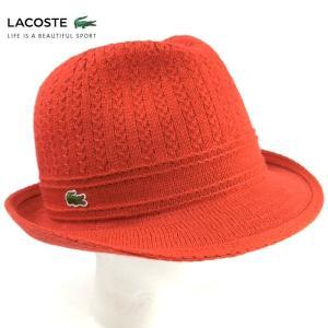 ラコステ メンズ 帽子 中折れ帽子 ハット 中折れハット LACOSTE 1万2528 ニットハット レディース ウール ブランド 秋冬 ブラック 58 あすつく|museum8