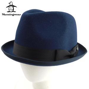 マンシングウエア メンズ 中折れ帽子 Munsingwear 中折れハット 帽子 Munsingwear ハット  レディース ブランド 秋冬 ネイビー 57.5 あすつく|museum8