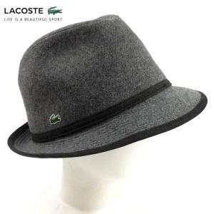 ラコステ LACOSTE 中折れ帽子 中折れハット 帽子 ハット 1万1880 メンズ レディース ワンポイントウールハット ブランド 秋冬 グレー 57 あすつく|museum8