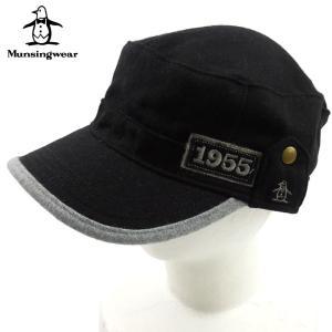 マンシングウエア MUNSINGWEAR ワークキャップ CAP 帽子 ハット 6156 メンズ ワンポイント ロゴ 刺繍 ブランド 秋冬 ブラック F あすつく|museum8