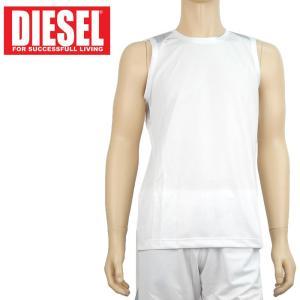 ノースリーブTシャツ スポーツウエア ドライ ディーゼル DIESEL メンズ メッシュ アンダーウエア インポート 6264 S M L ホワイト あすつく メール便|museum8