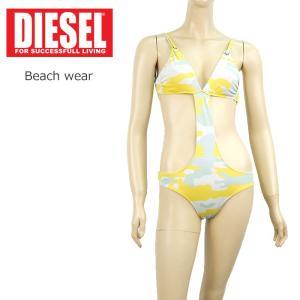 ディーゼル DIESEL 水着 ビーチウエア ワンピース カモフラ レディース インポート カモフラ/イエロー系 1万5984 XS メール便|museum8