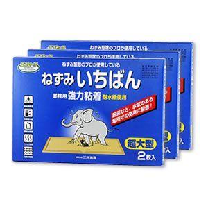 ネズミ 退治 粘着板 ネズミ捕り エコセーフ ねずみいちばん (2枚×25箱) 通常2.5倍サイズ 耐水タイプ 送料無料 まとめ購入|mushi-taijistore