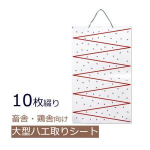 特大ハエトリ紙 虫とりカレンダーシート 1袋(10枚綴り) 吊るしてめくるだけ/ハエ 捕獲 駆除 ハエ捕り 粘着 シート|mushi-taijistore