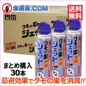 送料無料 お得まとめ購入 クモの巣消滅ジェット 450ml×30本 アース製薬 クモ駆除殺虫剤 シリコンコート|mushi-taijistore