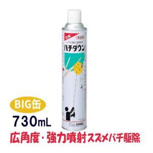 ジャンボ缶 スズメバチ巣駆除剤 ハチダウン 730ml 広角度・強力噴射 プロ仕様|mushi-taijistore