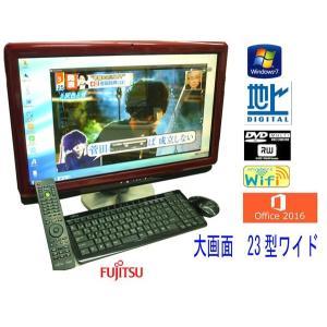 送料無料 3カ月保証 液晶一体型パソコン 富士通 FMV-DESKPOWER F/E90D  23型W光沢 Windows7 Core2Duo 4GB 1000GB DVD/RW MS-Office2016 RCL195m|mushinet