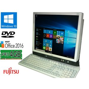 送料無料 3ヵ月保証 中古液晶一体型パソコン 富士通 ESPRIMO K550/A 17型 Windows10 Celeron 4GB 160GB DVD KS-Office2016 RCL202|mushinet