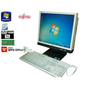 送料無料 3ヵ月保証 中古液晶一体型パソコン 富士通 ESPRIMO K550/A 17型 Windows7 Core 2 Duo 4GB 80GB DVD-RW KS-Office2017 RCL205|mushinet