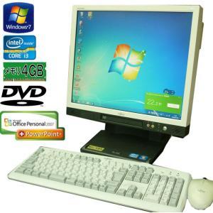 送料無料 3ヵ月保証 中古液晶一体型パソコン 富士通 ESPRIMO K552/D 17型 Windows7 Core i3 4GB 160GB DVD-ROM MS-Office2007 RCL206m|mushinet