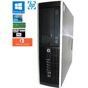 送料無料 3か月保証 中古デスクトップパソコン HP Compaq  PRO6300SFF 省スペース型 Windows10 Corei5 4GB 500GB DVD/RW KS-Office2016 RCS220m|mushinet