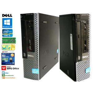 送料無料 3か月保証 中古デスクトップパソコン DELL OPTILEX 790 省スペース型 Windows10 Corei3 4GB 250GB DVD/RW KS-Office2016 RCS225|mushinet