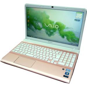 送料無料 3ケ月保証 中古ノートパソコン SONY VAIO SVE15117FJP 15.5型W光沢 Windows7 Corei5 4GB 320GB BD/RE KS-Office2016 RNT489