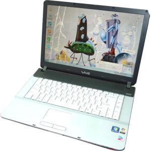 送料無料 3ケ月保証 中古ノートパソコン SONY VAIO VGN-FS980 15.4型W光沢 Windows7 Pentium 2GB 120GB DVD/RW KS-Office2016 RNT494