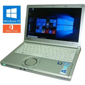 送料無料 3か月保証 中古ノートパソコン Panasonic Let'snote CF-SX2 PC-SX2LDHCS 12.1型 Windows10 Corei5 4GB 250GB MS-Office2016 RNT543m mushinet