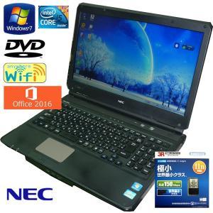送料無料 3カ月保証 中古ノートパソコン NEC VersaPro VX-C VK23TX-C 15.6型W Windows7 Corei5 4GB 250GB DVD MS-Office2016 RNT550m mushinet