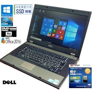 送料無料 3カ月保証 中古ノートパソコン DELL LATLTUDE Latitude E5510 15.6型W Windows10 Corei5 4GB SSD:275GB DVD/RW KS-Office2016 RNT565 mushinet