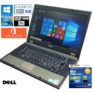 送料無料 3カ月保証 中古ノートパソコン DELL LATLTUDE Latitude E5510 15.6型W Windows10 Corei5 4GB SSD:275GB DVD/RW MS-Office2016 RNT565m mushinet