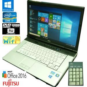 送料無料 3ケ月保証 中古ノートパソコン 富士通 LIFEBOOK E741/D FMVNE5AE 15.6型W Windows10 Corei7 4GB 250GB DVD/RW KS-Office2016 RNT571-1 mushinet