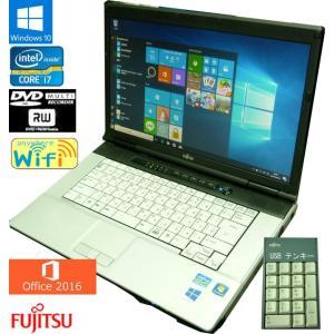 送料無料 3ケ月保証 中古ノートパソコン 富士通 LIFEBOOK E741/D FMVNE5AE 15.6型W Windows10 Corei7 4GB 250GB DVD/RW MS-Office2016 RNT571-1m mushinet