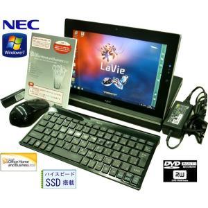 送料無料 3カ月保証 中古ノートパソコン NEC LT550/FS PC-LT550FS 10.1型W Windows7 Atom 2GB SSD64GB DVD/RW MS-Office2010 RNT576 mushinet