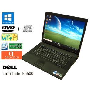 送料無料 3カ月保証 中古ノートパソコン DELL Latitude E5500  15.4型W Windows10 Core2Duo 4GB 320GB DVD/CD-RW MS-Office2016 RNT583m mushinet