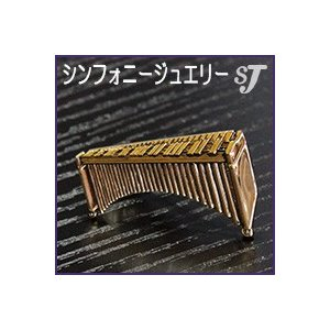 ネクタイピン ゴールド マリンバ スタンダード タイバー MM-80T/MR/G  ミュージックアミューズ music-amuse
