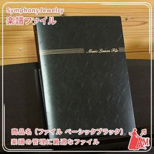 レッスンファイル ベーシック ブラック 楽譜ファイル 吹奏楽 FL-95/BA/BL  ミュージックアミューズ|music-amuse
